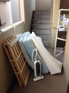タイルカーペット処分 ベッドすのこ回収 掃除機処分 千葉県 松戸市 栄町