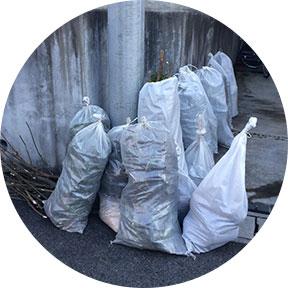 土嚢袋(土)ビニール袋(土や枯葉など)
